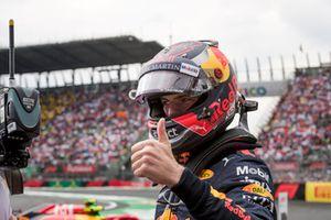 Winnaar Max Verstappen, Red Bull Racing viert feest in parc ferme