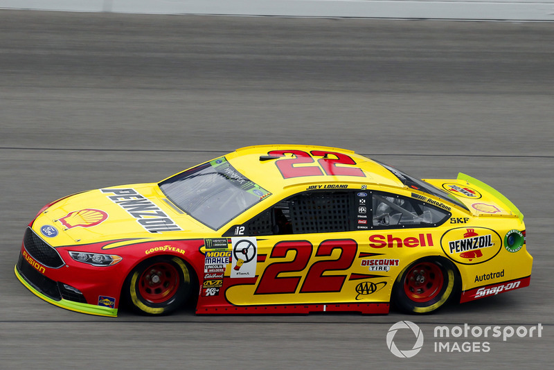 1. Joey Logano, Team Penske, Ford Fusion Shell Pennzoil