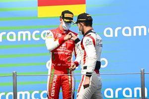 Mick Schumacher, Prema Racing and Luca Ghiotto, HITECH GRAND PRIX celebrates on the podium
