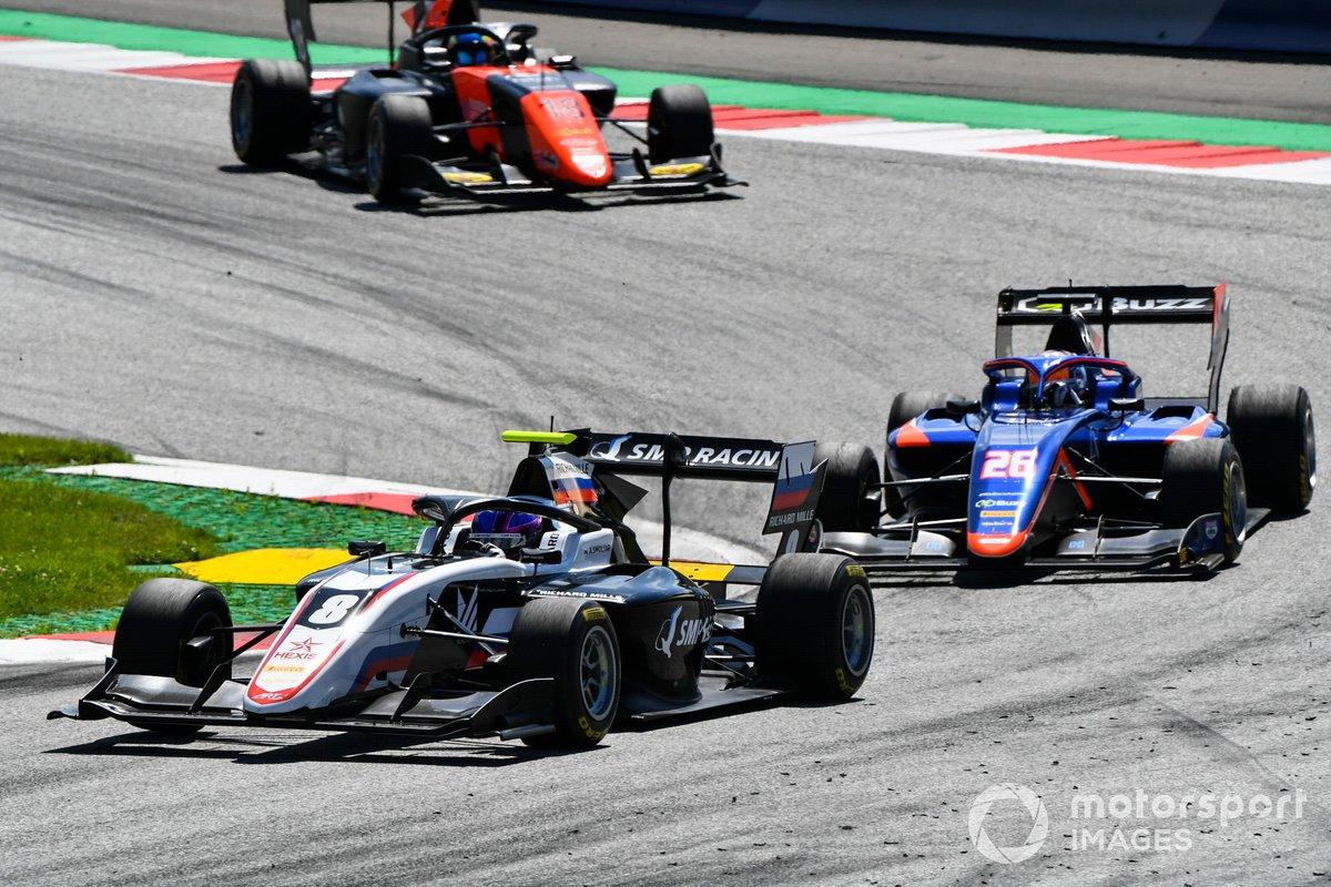 Alexander Smolvar, ART Grand Prix, Clement Novalak, Carlin BUZZ RACING e Bent Viscaal, MP Motorsport
