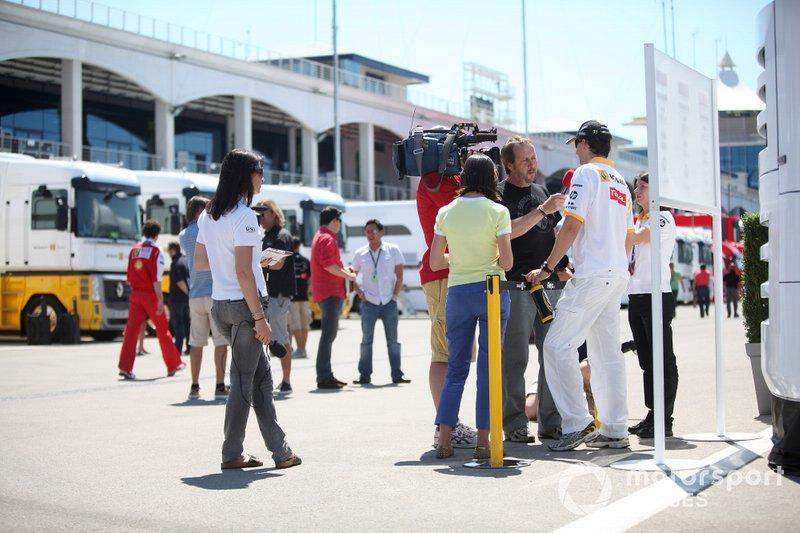 Robert Kubica, Renault F1 Team, al GP di Turchia del 2011