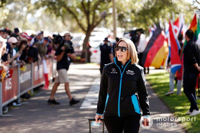 Claire Williams, vicedirectora de Williams Racing