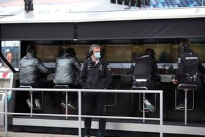 James Allison, Technical Director, Mercedes AMG on the pit wall