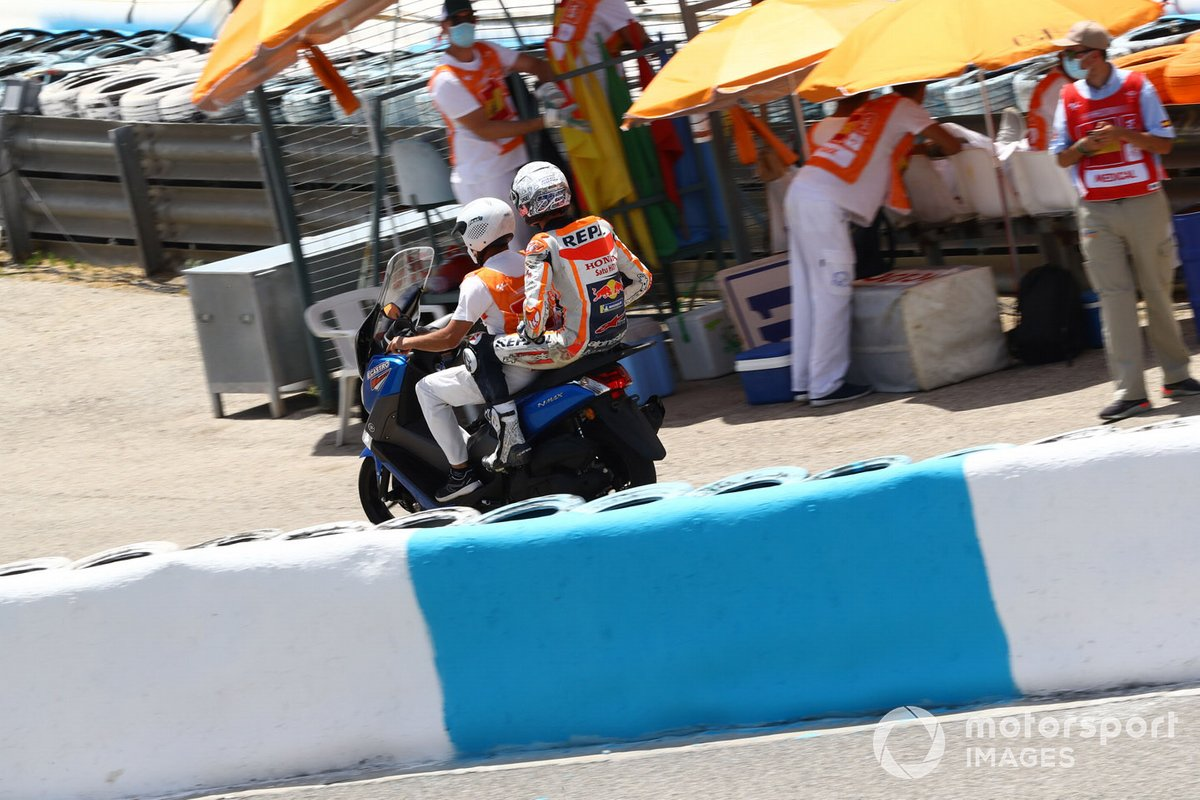 Алекс Маркес, Repsol Honda Team after crash