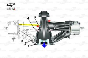Mercedes AMG F1 W10 rear suspension