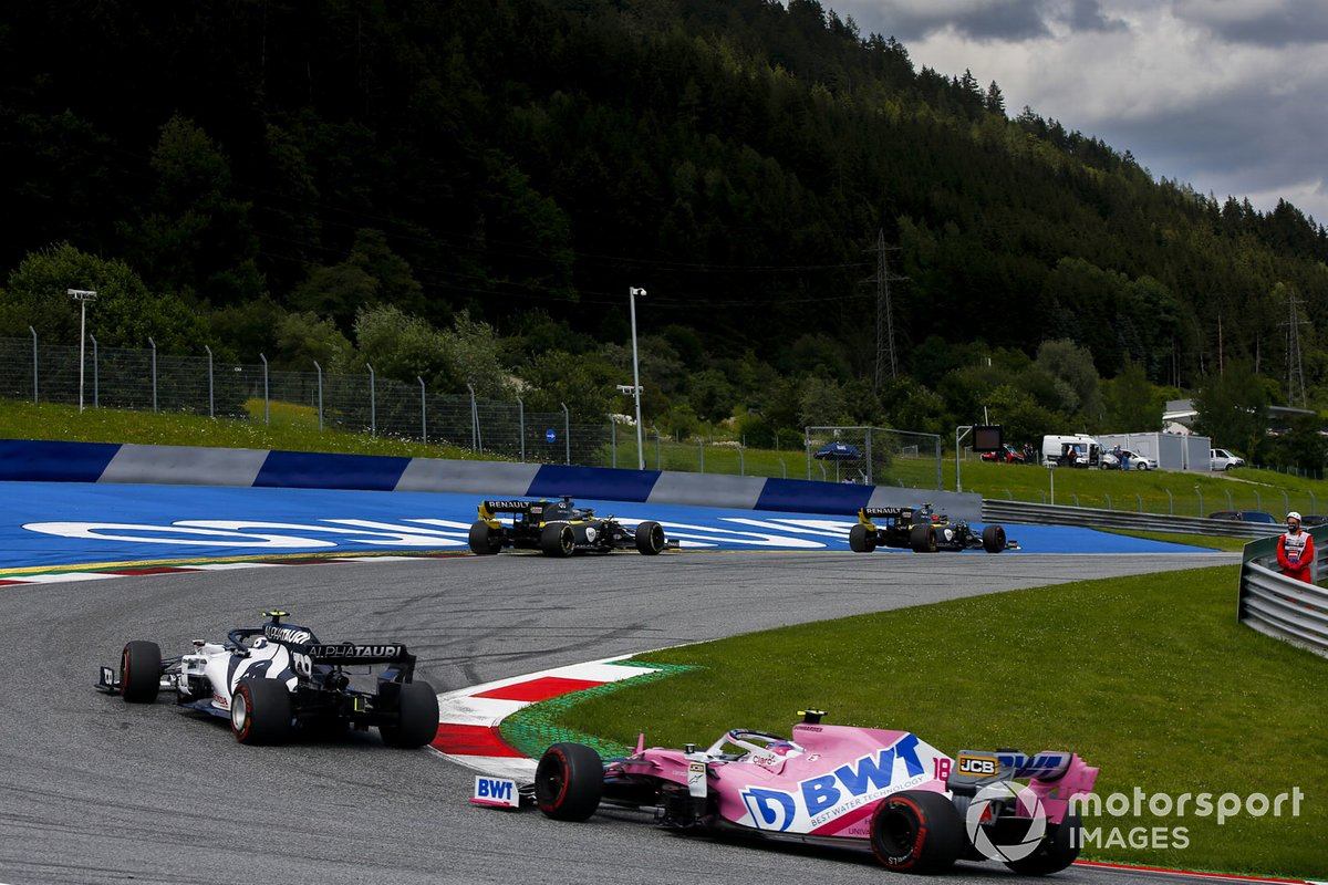 Pierre Gasly, AlphaTauri AT01 e Lance Stroll, Racing Point RP20