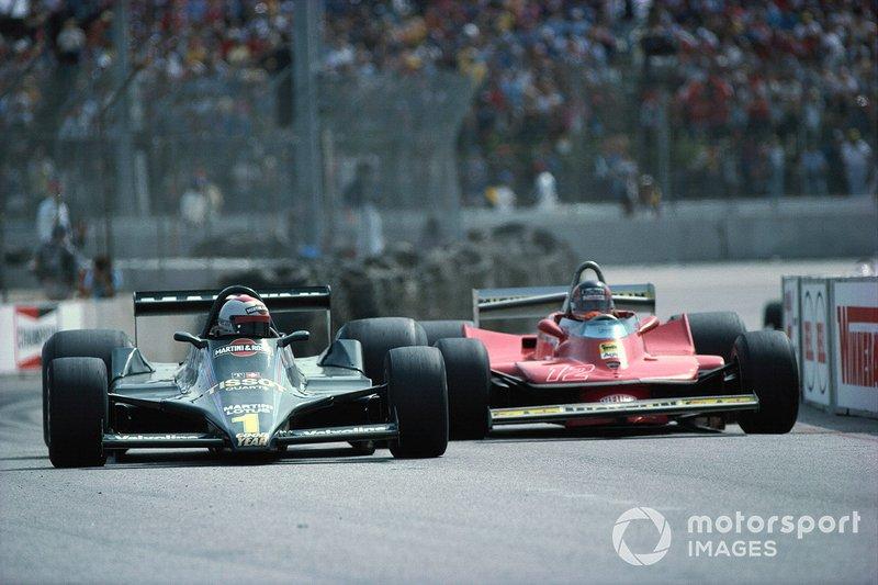 Mario Andretti, Lotus 79 Ford, Gilles Villeneuve, Ferrari 312T4