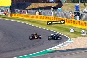 Lewis Hamilton, Mercedes F1 W11, battles with Max Verstappen, Red Bull Racing RB16