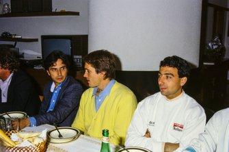 Nelson Piquet, Brabham, Eddie Cheever, Benetton y Michele Alboreto, Ferrari