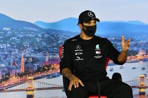 Lewis Hamilton, Mercedes-AMG Petronas F1, in the qualifying press conference