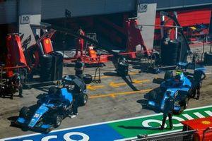 Calan Williams, Jenzer Motorsport e il compagno di squadra in pit lane