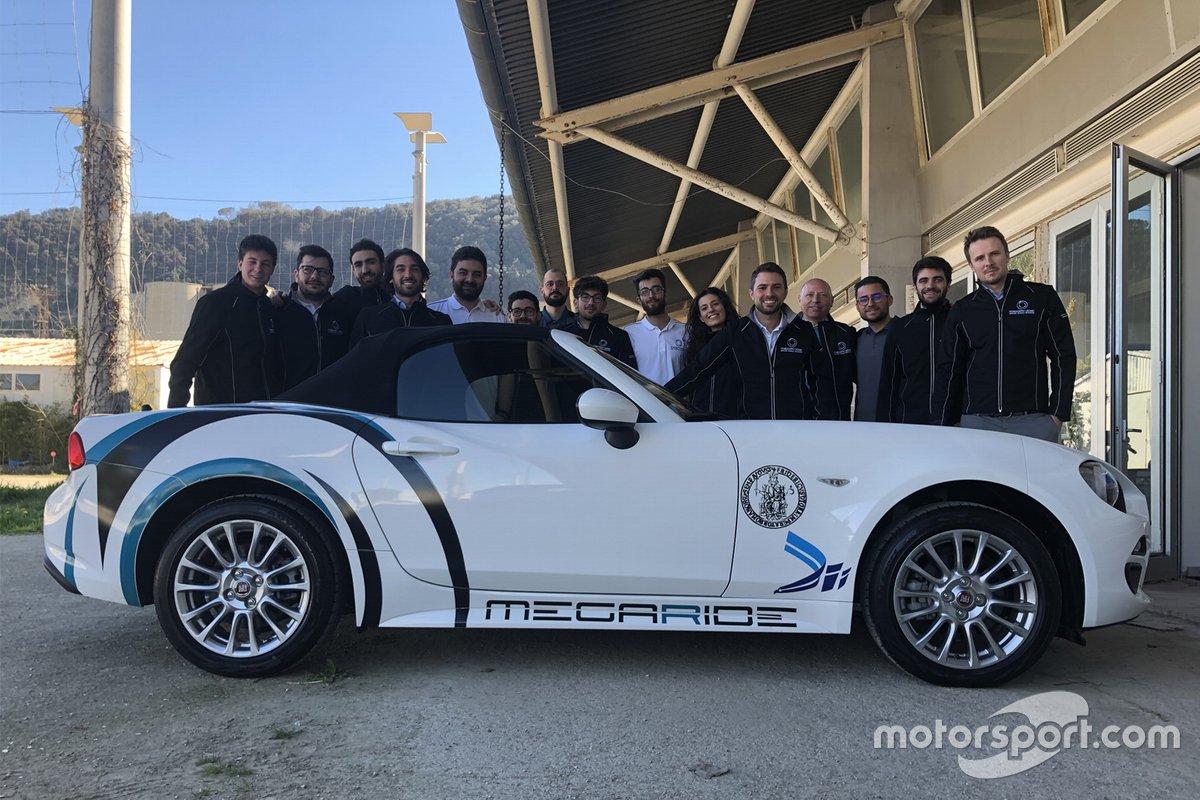 La vettura di Megaride usata per i test e le simulazioni sugli pneumatici