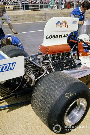 La parte trasera del March 751 Ford de Mark Donohue