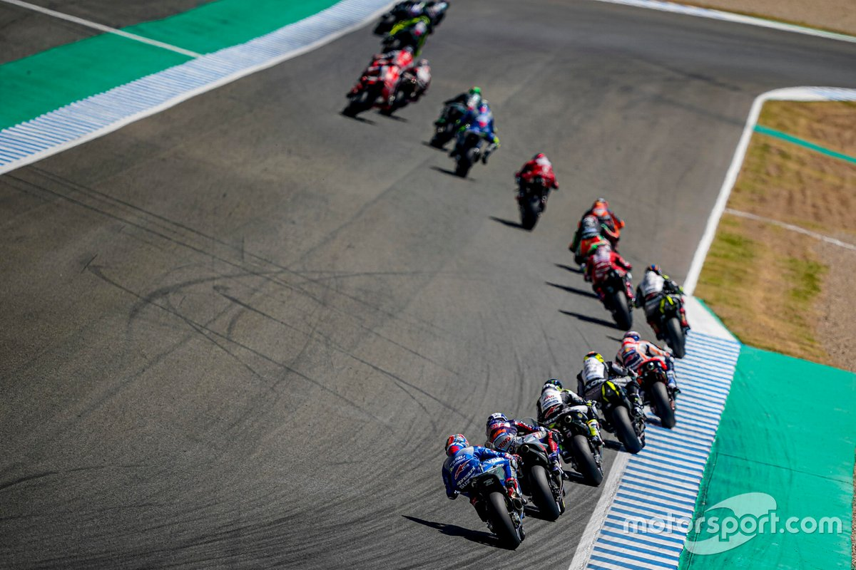 Renn-Action beim GP Andalusien 2020 in Jerez