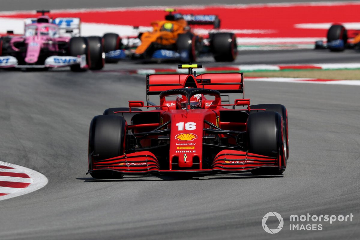 Charles Leclerc, Ferrari SF1000, Sergio Pérez, Racing Point RP20, Lando Norris, McLaren MCL35