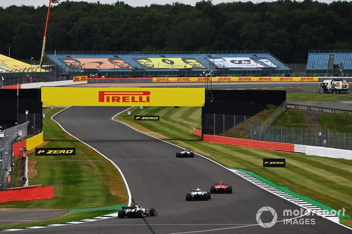 Antonio Giovinazzi, Alfa Romeo Racing C39, Charles Leclerc, Ferrari SF1000, George Russell, Williams FW43, Romain Grosjean, Haas VF-20