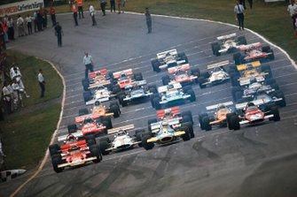 Jochen Rindt, Lotus 72C Ford, Jack Brabham, Brabham BT33 Ford, Jacky Ickx, Ferrari 312B
