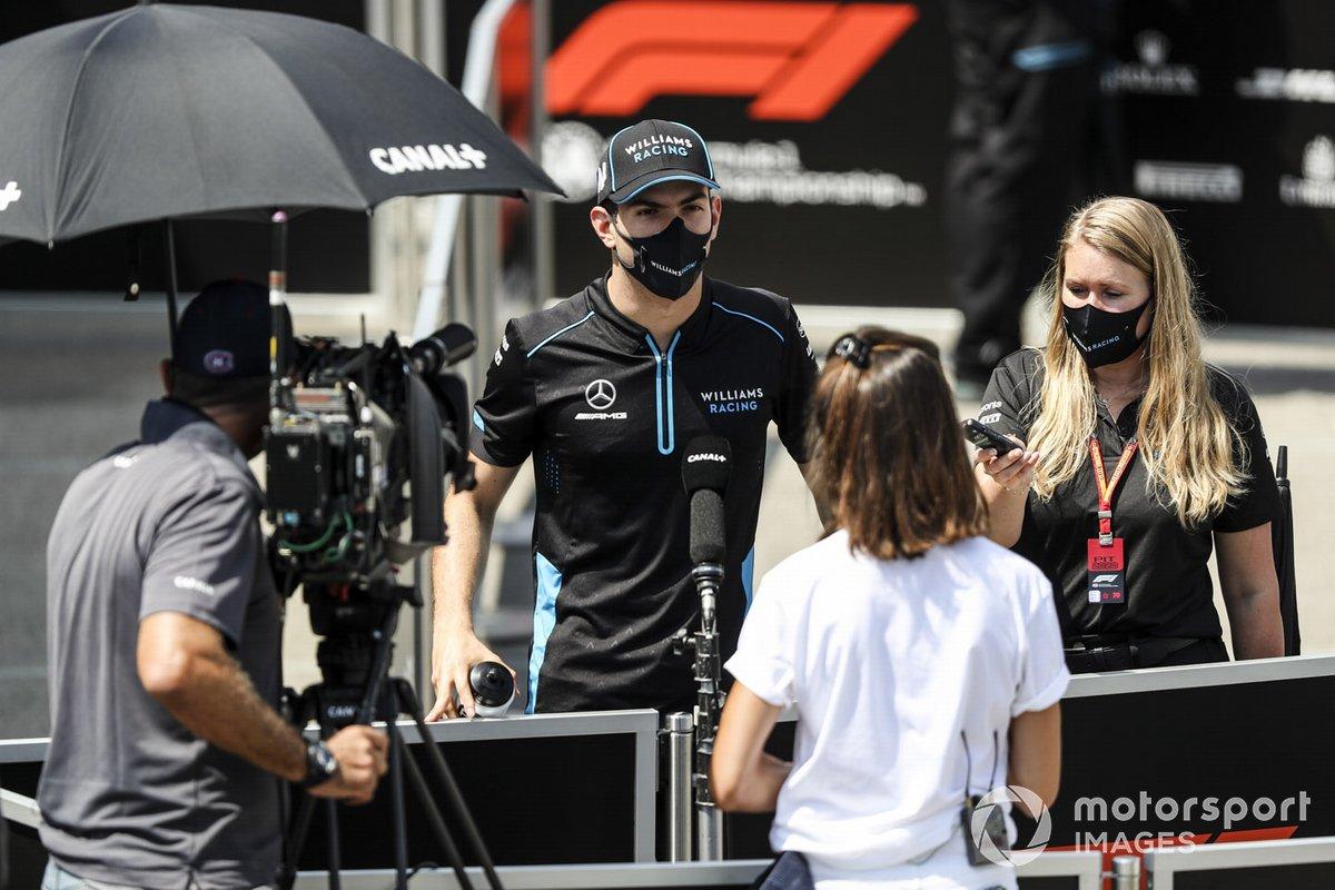 Nicholas Latifi, Williams Racing con los medios