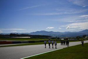 Lando Norris, McLaren cammina in pista