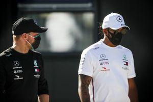 Valtteri Bottas, Mercedes-AMG F1 and Lewis Hamilton, Mercedes-AMG F1