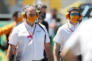 McLaren team members on the grid