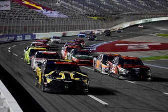 Kyle Busch, Joe Gibbs Racing Toyota App State Class of 2020 leads Austin Cindric, Team Penske Ford Snap-on Tools