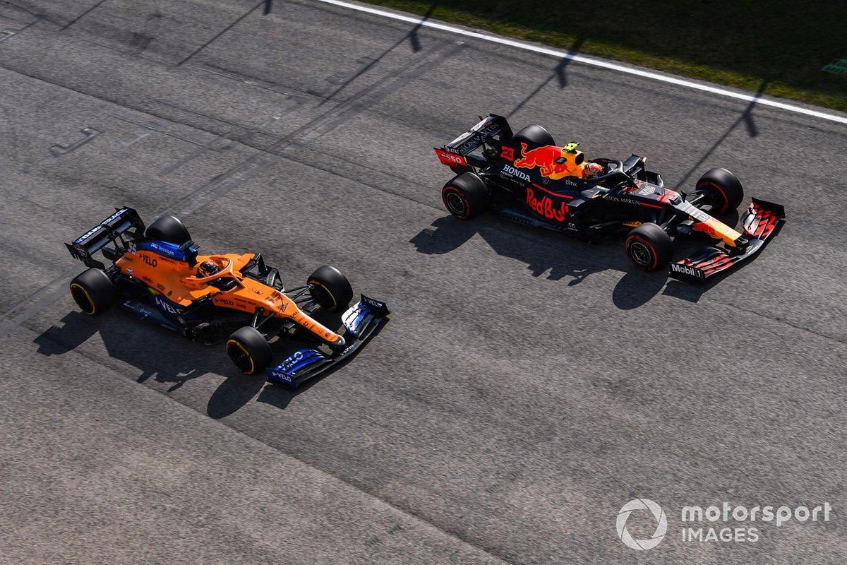 Алекс Элбон, Red Bull Racing RB16, Карлос Сайнс, McLaren MCL35