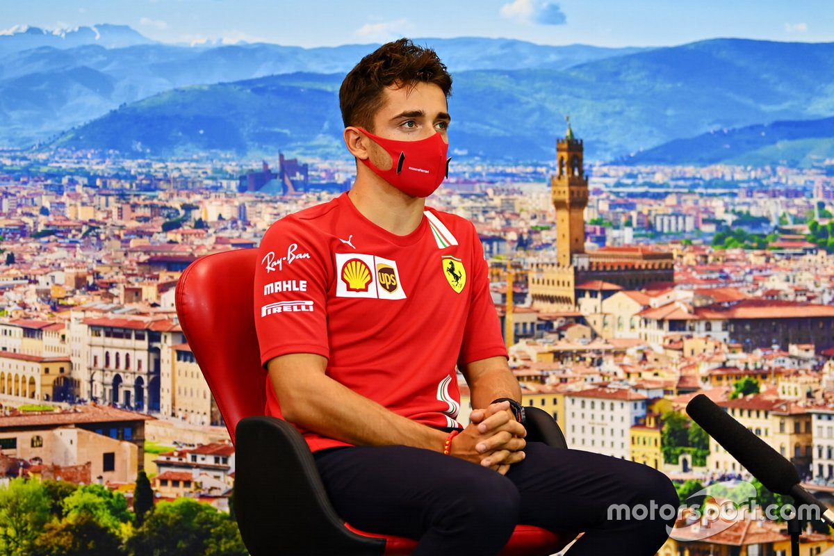 Charles Leclerc, Ferrari en la conferencia de prensa