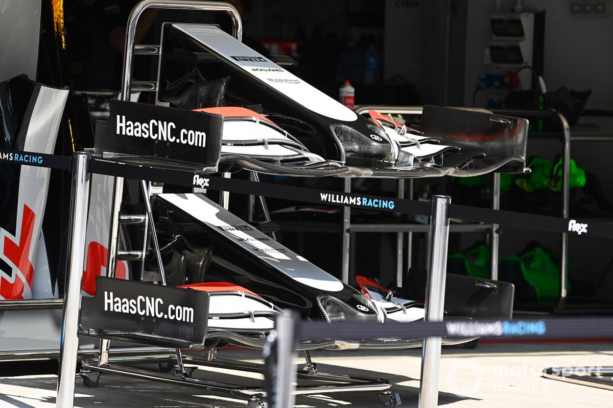 Detalle técnico del Haas F1