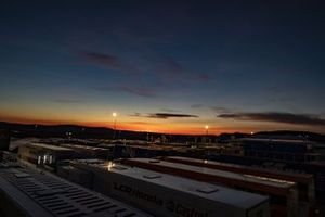MotoGP-Fahrerlager im Motorland Aragon