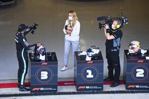 Le troisième Lewis Hamilton, Mercedes-AMG F1, dans le parc fermé