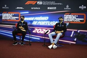 Nicholas Latifi, Williams Racing, and George Russell, Williams Racing, in the press conference