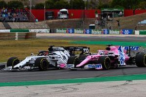 Daniil Kvyat, AlphaTauri AT01, Sergio Perez, Racing Point RP20