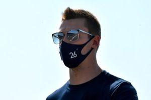 Daniil Kvyat, AlphaTauri, walks the track