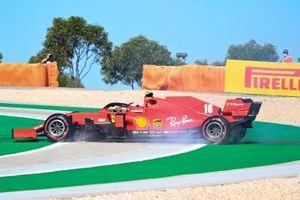 Charles Leclerc, Ferrari SF1000, spins