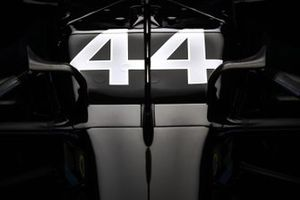 The race number on the car of Lewis Hamilton, Mercedes F1 W11