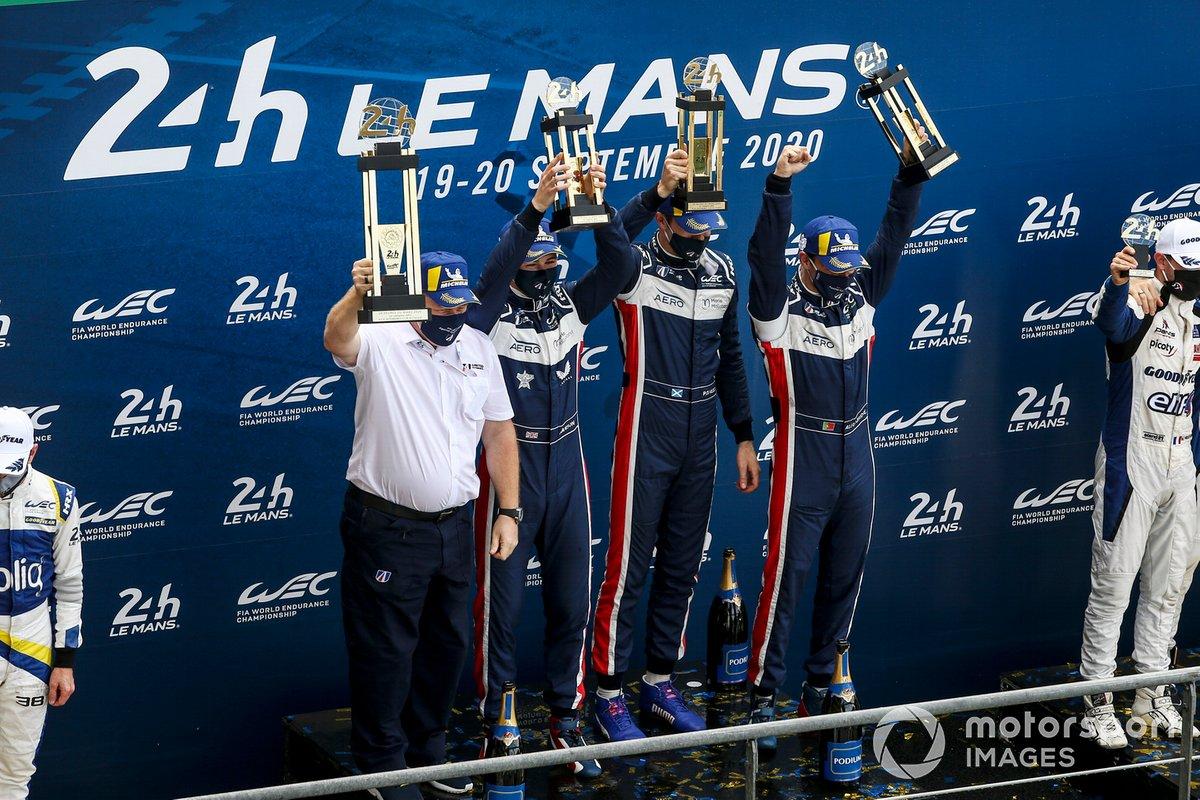 Podio LMP2: ganadores #22 United Autosports Oreca 07 - Gibson: Philip Hanson, Filipe Albuquerque, Paul Di Resta