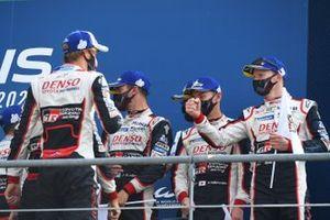 Third place #7 Toyota Gazoo Racing Toyota TS050: Mike Conway, Kamui Kobayashi, Jose Maria Lopez, winner Brendon Hartley