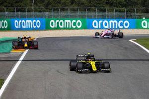 Esteban Ocon, Renault F1 Team R.S.20, Alex Albon, Red Bull Racing RB16, and Lance Stroll, Racing Point RP20