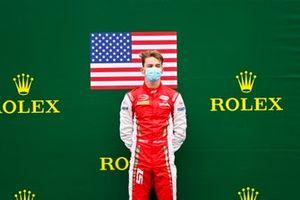 Race Winner Frederik Vesti, Prema Racing on the podium