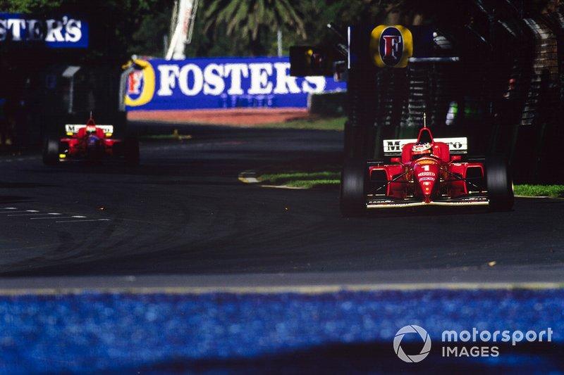 Michael Schumacher, Ferrari F310, Eddie Irvine, Ferrari F310