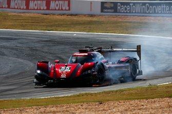 #55 Mazda Team Joest Mazda DPi: Jonathan Bomarito, Harry Tincknell, Olivier Pla after the crash