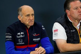 Franz Tost, Team Principal, Toro Rosso, and Zak Brown, Executive Director, McLaren