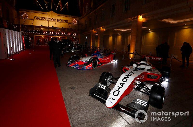 Los coches de la W Series y la Fórmula E