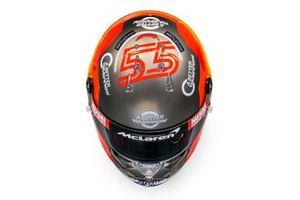 Helm von Carlos Sainz Jr., McLaren, für die Formel-1-Saison 2020