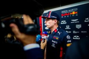 Max Verstappen, Red Bull Racing speaks to the media