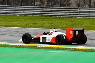 Martin Brundle, Sky TV drives the McLaren MP4/4