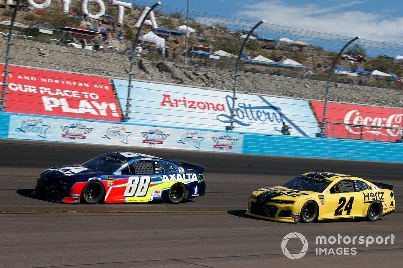Alex Bowman, Hendrick Motorsports, Chevrolet Camaro Axalta William Byron, Hendrick Motorsports, Chevrolet Camaro Hertz