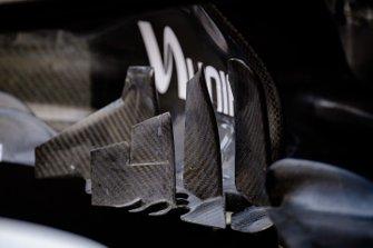 Mercedes AMG F1 W10 dettaglio del sidepod