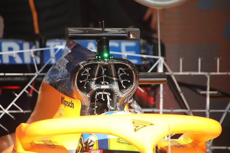 Detalle del McLaren MCL35
